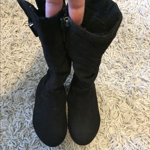 Other - Toddler black suede size 5 boots